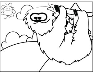 Cute Sloth coloring page