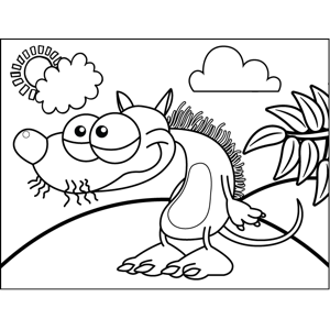 Drowsy Rat coloring page