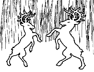 Dueling Stags Coloring Page