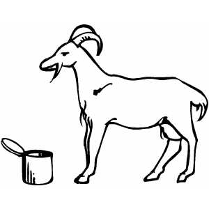 Eating Goat coloring page