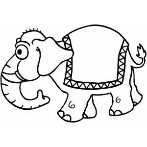 Fancy Elephant coloring page
