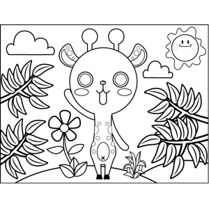 Goat Waving coloring page