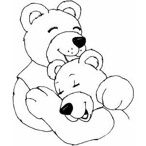 Hugging Bears coloring page