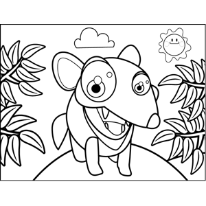 Hungry Dingo coloring page