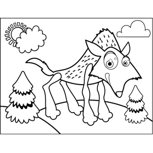 Hungry Wolf coloring page
