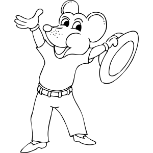 Mouse in Jeans coloring page