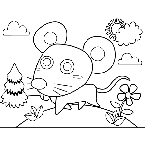 Mouse on the Move coloring page