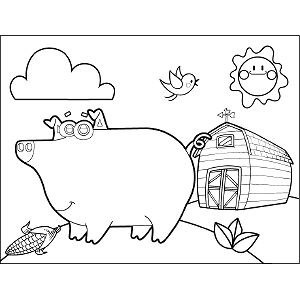 Pig Googly Eyes coloring page