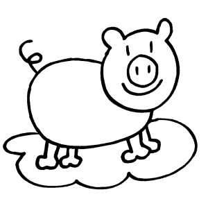 Piggy coloring page