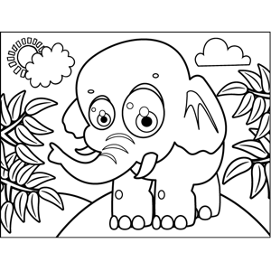 Playful Elephant coloring page