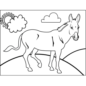 Proud Donkey coloring page