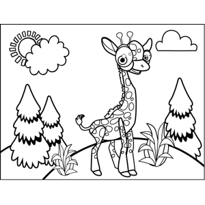 Proud Giraffe coloring page