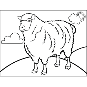 Proud Sheep coloring page