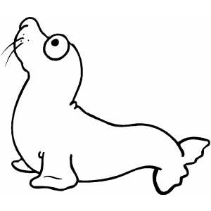 Seal Kid coloring page