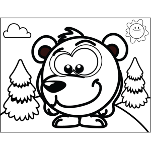 Shy Bear coloring page