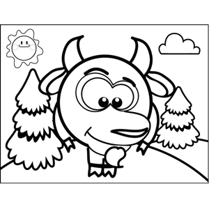 Shy Goat coloring page