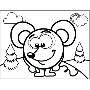 Shy Mouse coloring page
