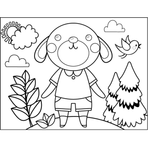 Shy Rabbit coloring page