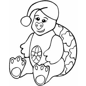 Sitting Tortoise Kid coloring page