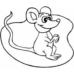 Smiling Mouse coloring page