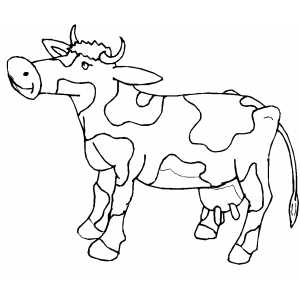 Spotted Cow coloring page