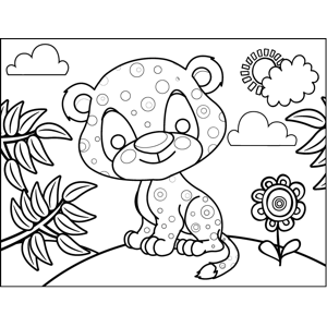 Spotted Leopard coloring page