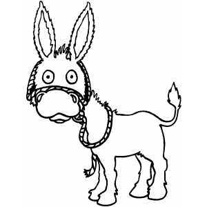 Surprised Donkey coloring page