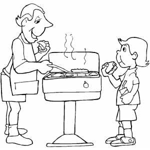 Barbeque coloring page