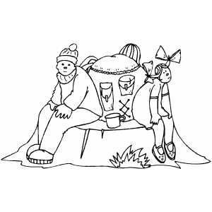 Campers Resting coloring page