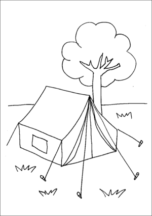 Camping Tent coloring page