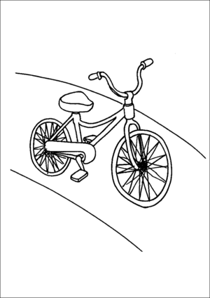 Child Bicycle coloring page