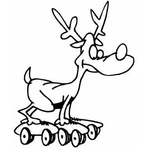 Deer Roller Skating coloring page