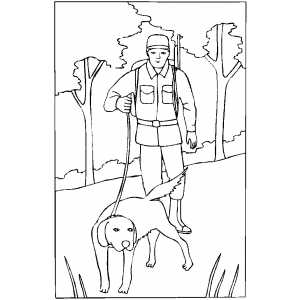 Dog Search For Duck coloring page