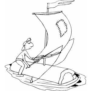 Fishing On Sail coloring page