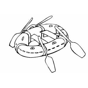 Raft Ready To Swim coloring page