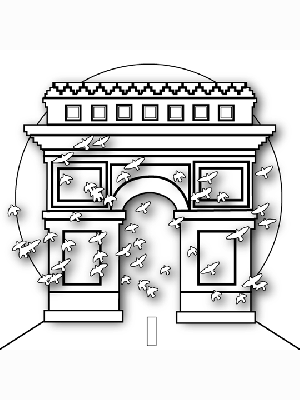 Arc of Triumph coloring page
