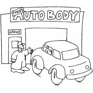 Auto Repair Shop coloring page