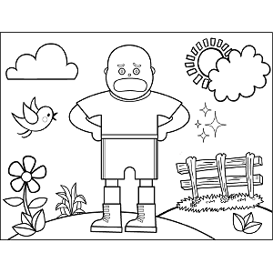Bald Soccer Kid coloring page