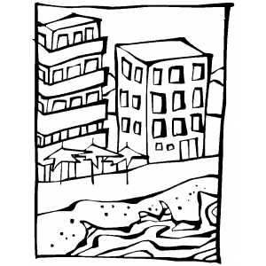 Beachfront Property coloring page