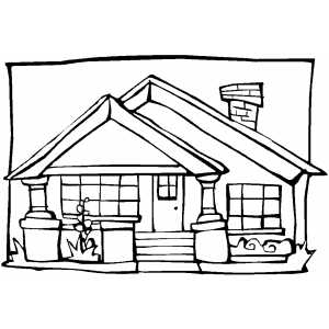 Bungalow House coloring page