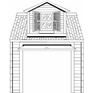 car garage coloring pages - photo#1
