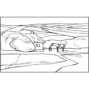 House - Ranch 2 coloring page