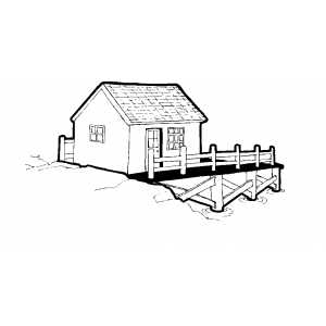 House On The Beach coloring page