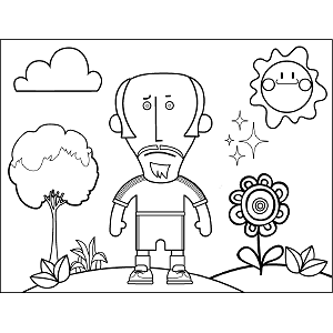 Man with Goatee coloring page