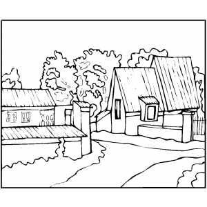 Old house coloring page