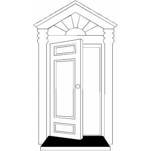Open Door coloring page