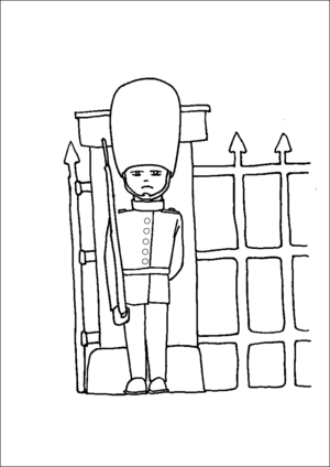 Palace Guard coloring page