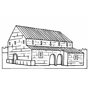 Rancho House coloring page