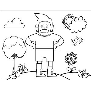 Tall Man coloring page