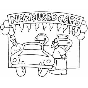 Used Car Lot coloring page